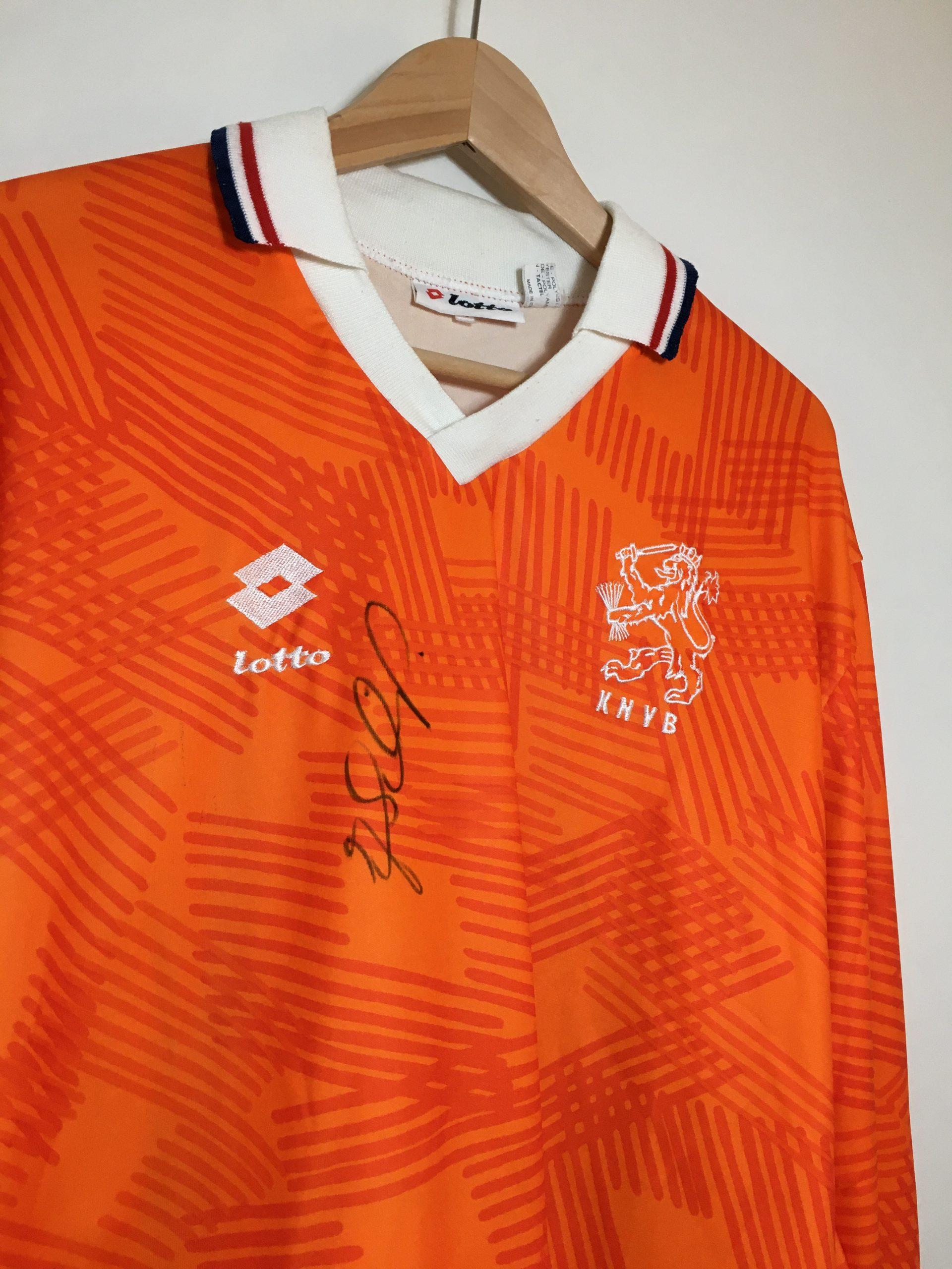 Match Worn Netherlands Holland L S Home Shirt 1991 By John Van T Schip 14 With Signature Football Vintage Amsterdam