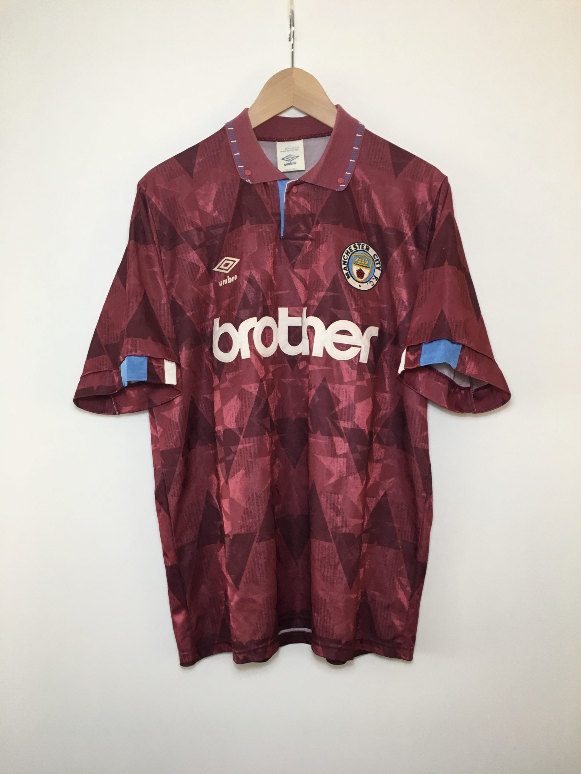 Manchester City away shirt 1990-1992 in Large - Football & Vintage ...