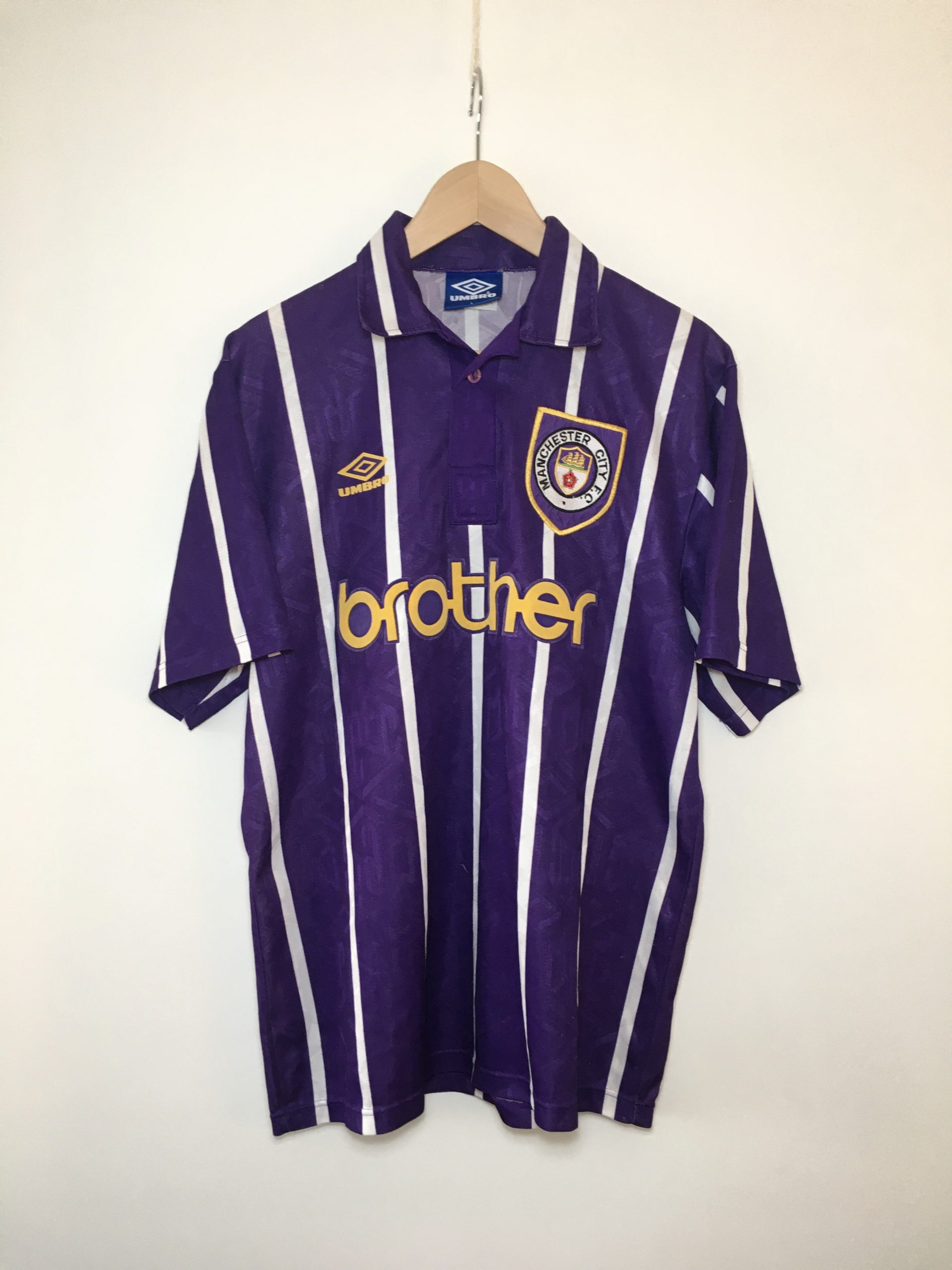 Manchester City away shirt 1992-1994 in Large - Football & Vintage ...