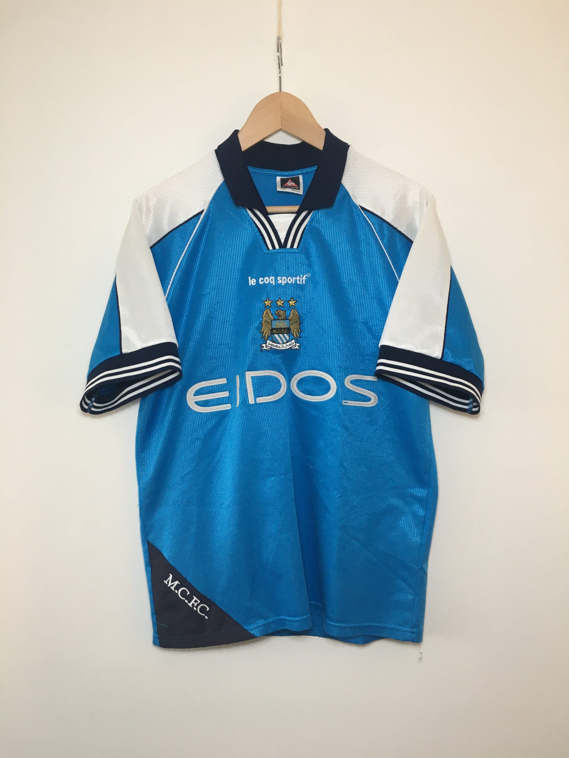 Manchester City Home Shirt 1999 2001 In Small Football Vintage Amsterdam